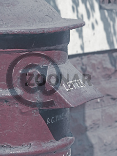 Post box, Mailbox. Email icon, at symbol Concept