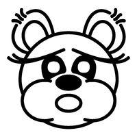 Lustiger Bär - erschrocken