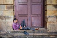 Sleeping Man in Mumbai India