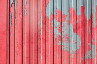 Rotes Metall von Container als Grunge Hintergrund Textur