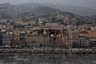Bastia, Blick von der Fähre, Korsika