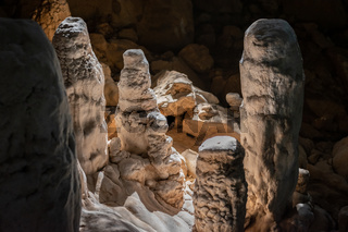 Stalacmites at Dragon cave, Konglor Loop, Thakhek, Laos