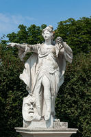 Female statue in Belvedere park, Vienna