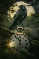 fairy raven guardian of time