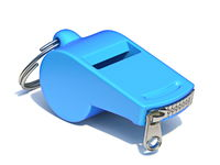 Blue whistle with a closed zipper 3D