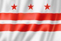 Washington, District of Columbia flag, USA