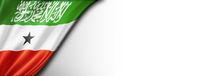 Somaliland flag isolated on white banner
