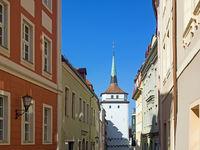 Altstadt von Bautzen, Sachsen, Deutschland, mit Schülerturm