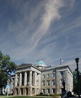 The state capitol building in Raleigh NC