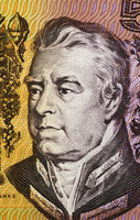 Joseph Banks (1743-1820) on 5 Dollars 1967 banknote from Australia. English naturalist