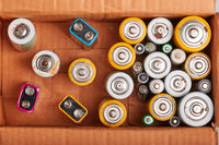 Discharged batteries collected to recycle