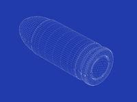 3D model of handgun bullet