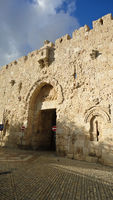 Zion Gate in Old City of Jerusalem, Israel.