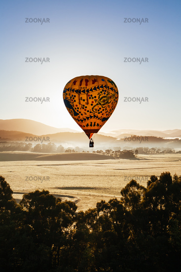 Hot Air Balloon At Sunrise in Australia