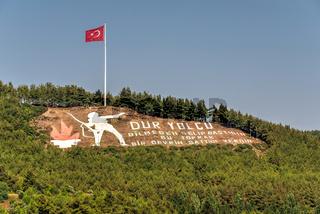 Stop the passenger monument in Gallipoli, Turkey