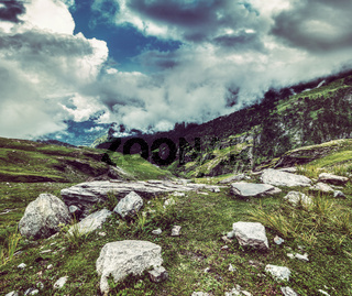 Mountain landscape in Himalayas