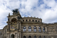 the Semperoper building in Dresden with the Quadriga above the entrance