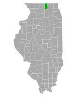 Karte von Boone in Illinois - Map of Boone in Illinois