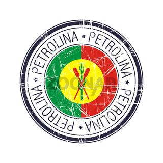 City of Petrolina, Brazil vector stamp