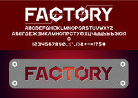 Factory style brutal font