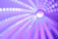 Helle Blendenkreise vor einem lilafarbenen Hintergrund