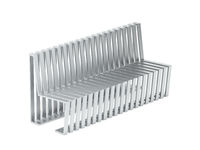 Metal bench on white background