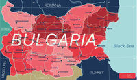 Bulgaria country detailed editable map