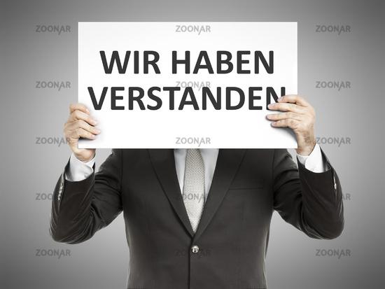 business man message