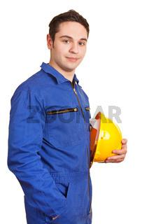 Bauarbeiter mit Schutzhelm