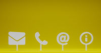business contact as symbol for internet template - 3D Illustration