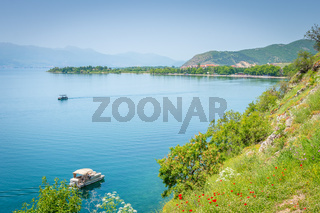 Overlooking UNESCO World Heritage Lake Ohrid, Macedonia
