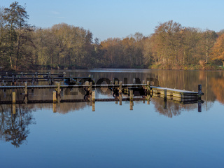 Herbst an einem See im Münsterland