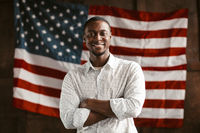 Patriotic Black American Rejoices In His Country's Independence