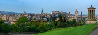 Edinburgh Castle Panorama At Dawn