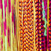 Indian colorful laces of different colors