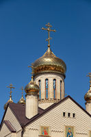 Christian Church with Golden domes and crosses