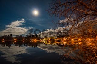 Full moon night in the city