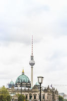 berlin cathedral and television tower
