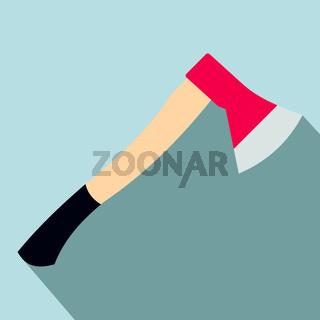 Wooden axe flat icon