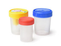 Plastic specimen medical test containers