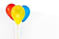 Colorful balloons for birthday and celebrations isolated on white background