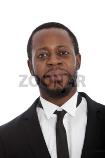 Portrait of a handsome African man