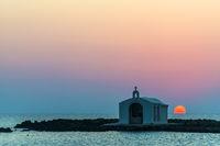 Church Silhouette In Greece