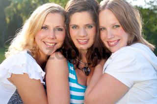 3 happy faces
