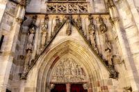 Portal der gotischen Kapellenkirche, Stadt Rottweil