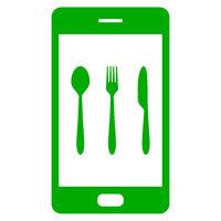 Besteck und Smartphone - Cutlery and smartphone