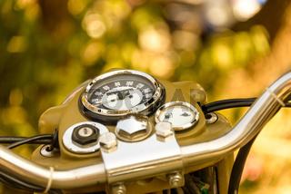Vintage motorcycle dashboard