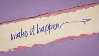 make it happen inspirational handwriting