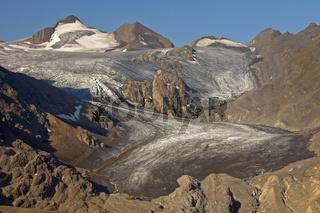 Griesgletscher mit Blinnenhorn, Wallis, Schweiz