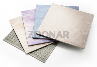 Bathroom tiles isolated on white background. 3D illustration